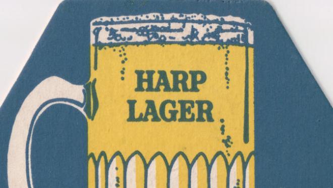 Harp lager beer mat (detail)