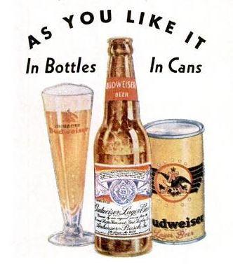 Detail from 1937 Budweiser advertisement.