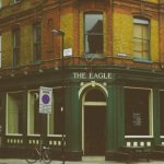 The Eagle pub.