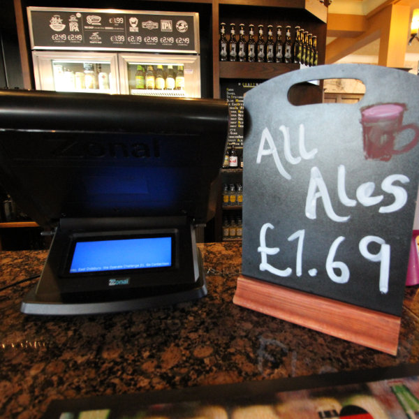 Wetherspoons sign: All Ales £1.69.