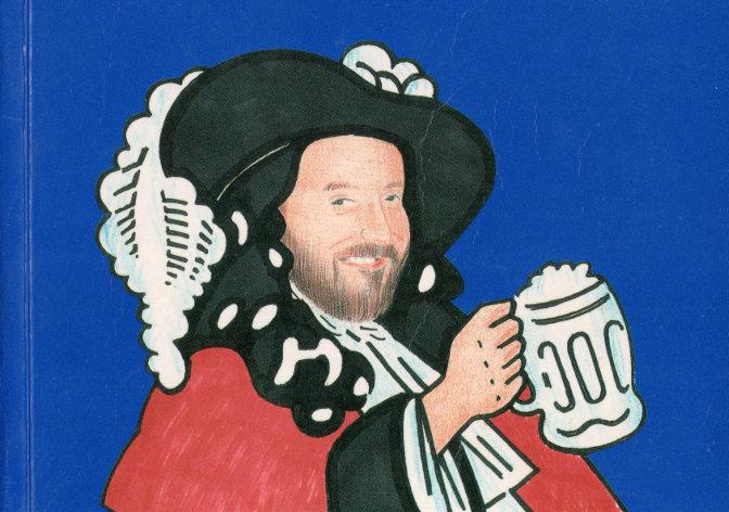 Bill Kell as the McEwan's Scotch Ale mascot.