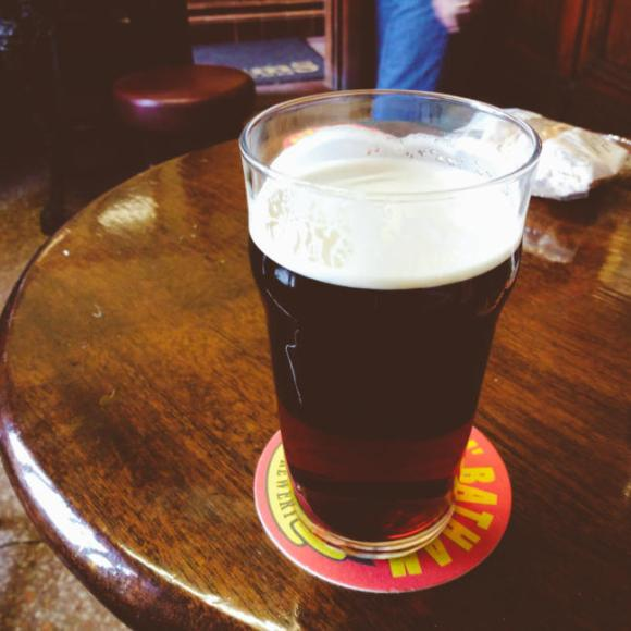 A pint of Batham's mild.