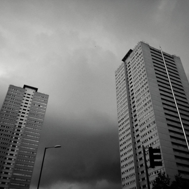 Tower blocks, Birmingham.