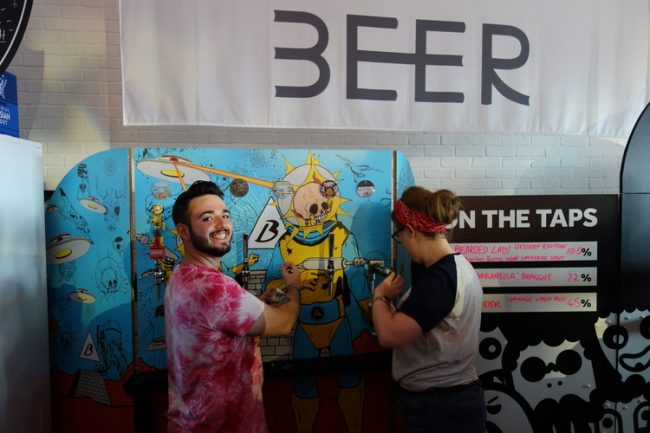 The Beavertown bar at LCBF.