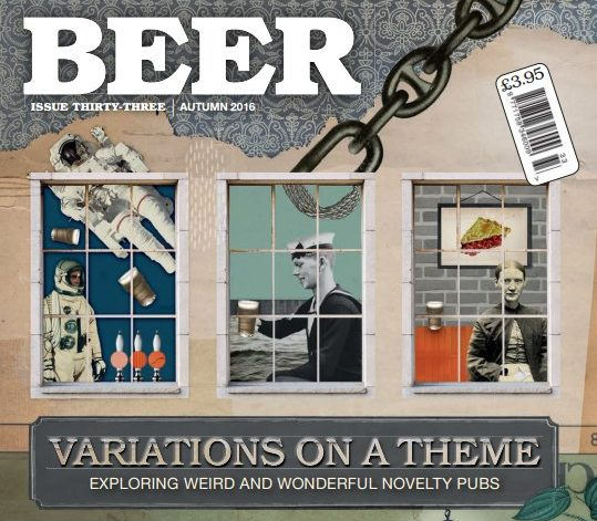 Detail from the cover of BEER magazine.
