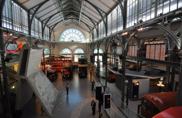 Cast iron roof, skylights, buses and trams.