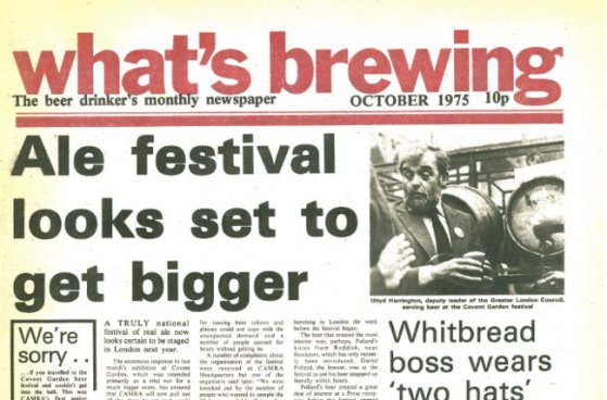 HEADLINE: 'Ale festival looks set to get bigger'.