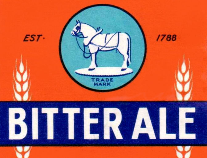 Detail from old beer label: BITTER ALE.