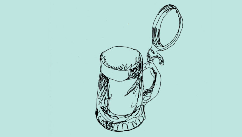 ILLUSTRATION: A German beer stein.