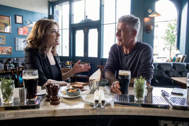 Anthony Bourdain with Nigella Lawson.