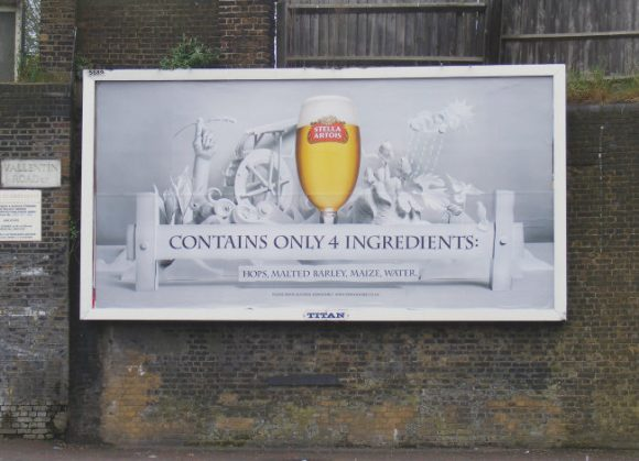 Stella Artois advertising c.2007.