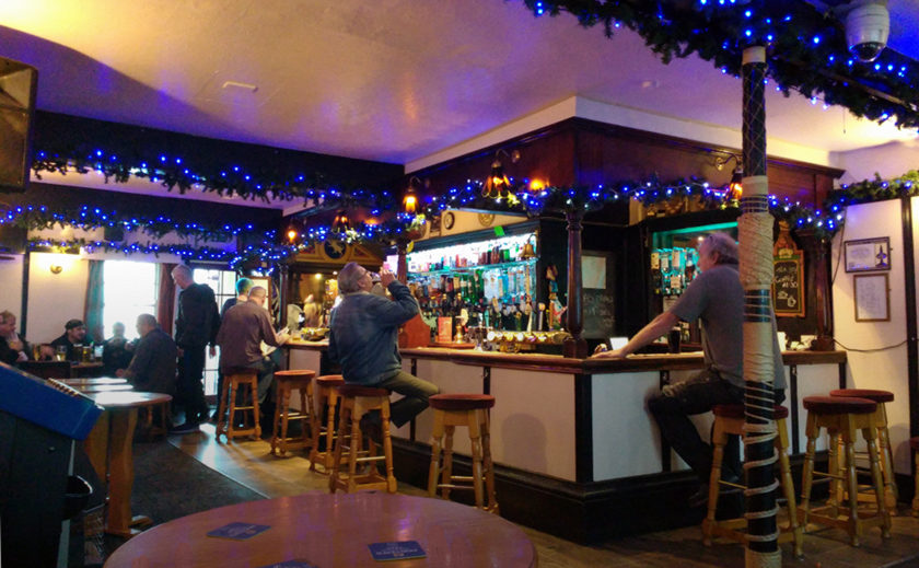 The bar at the White Lion.