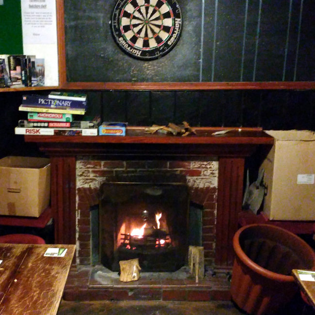 The fire at the Farmer's Arms.