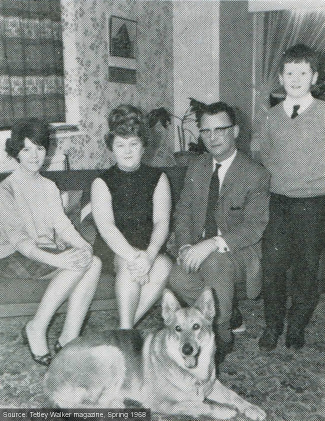 Mr and Mrs Low with their children and dog.