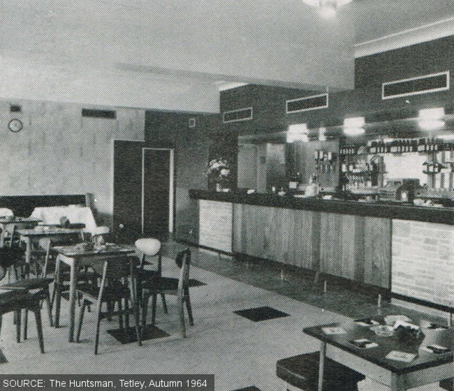The public bar at The Ebor pub, Leeds, in 1964.