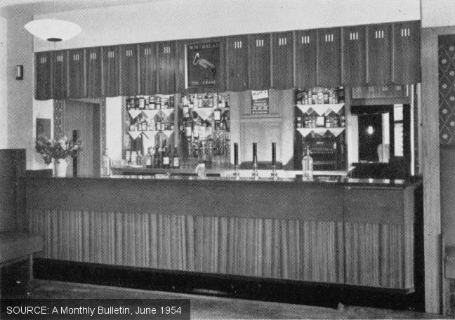 The bar at The Crane.
