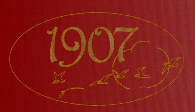 Header graphic: vaguely Art Nouveau gilded 1907.