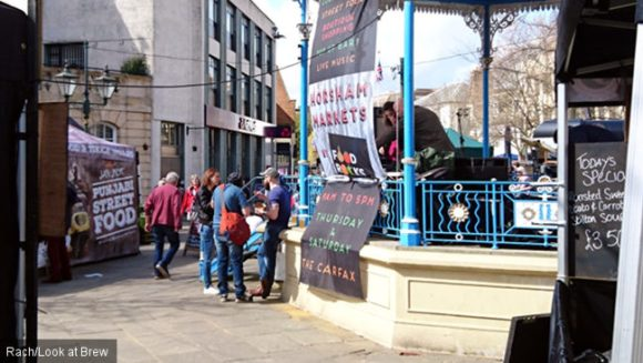 A Horsham town centre scene.