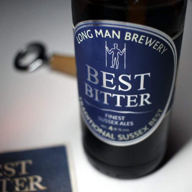 The label for Long Man Best Bitter.