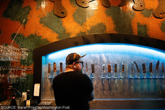 A Vermont tap room.