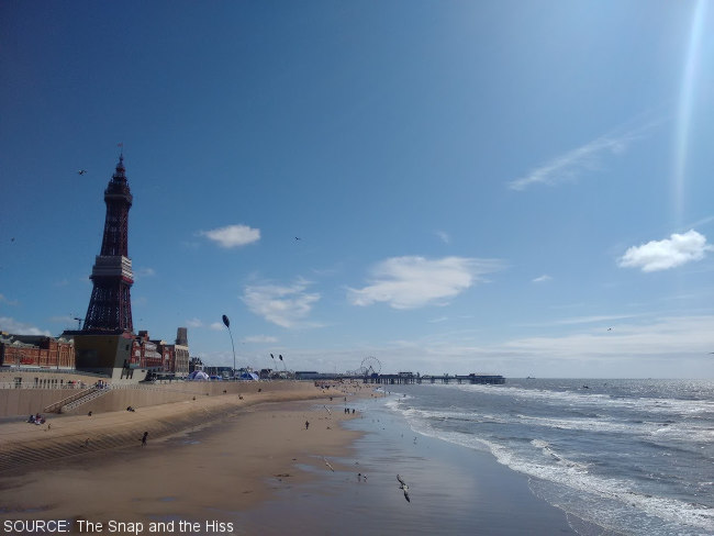 The view from Blackpool's North Pier.