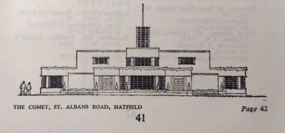 The Comet, Hatfield, as illustrated in 1938.