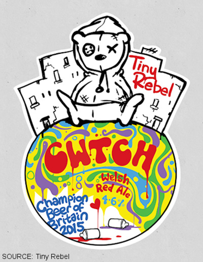 The label for Cwtch.