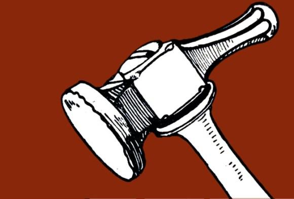 Vintage illustration: a hammer.
