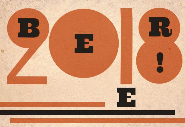 Illustration: 2018 BEER, constructivist style.