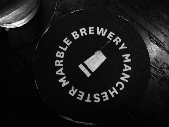 Marble Brewery beer mat.