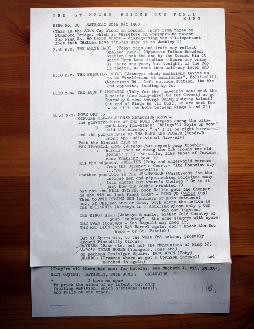 Typewritten paper, foolscap size.