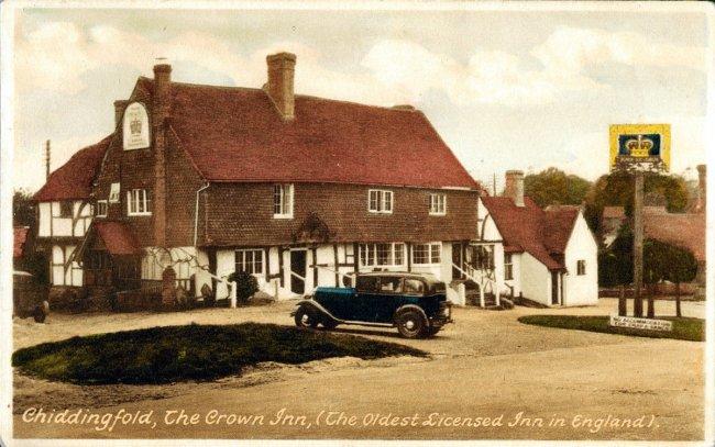 A village inn from an old postcard.