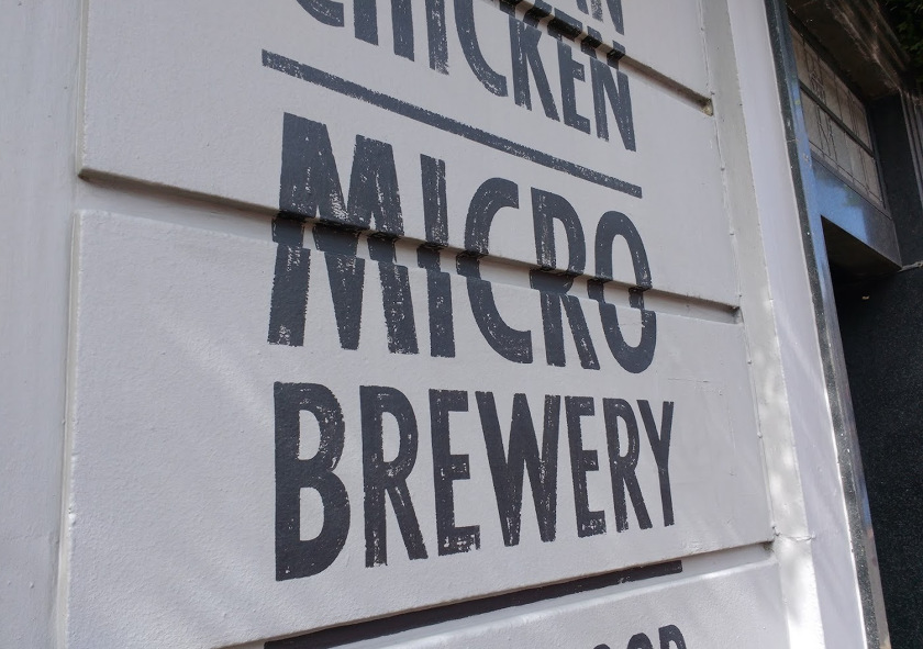 "Sign: ""MICRO BREWERY"""