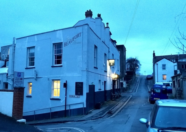 The Beaufort Arms, off Durdham Down.