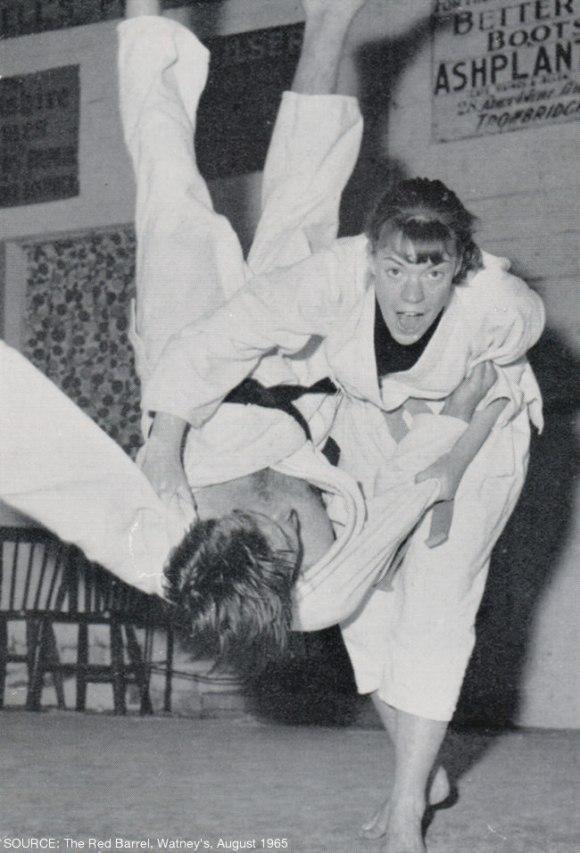 A judo throw.