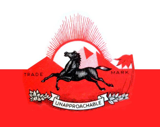 Prancing horse logo.