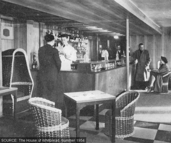 The motel bar.