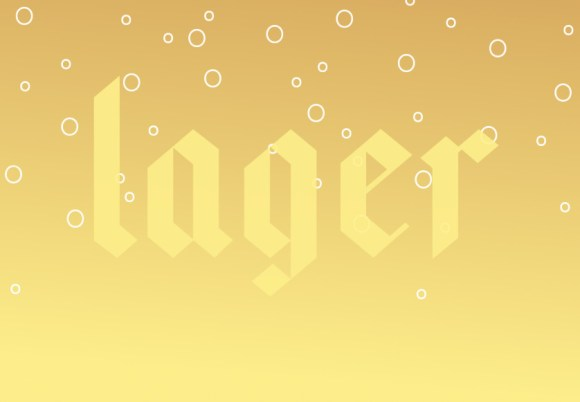 Text illustration: LAGER