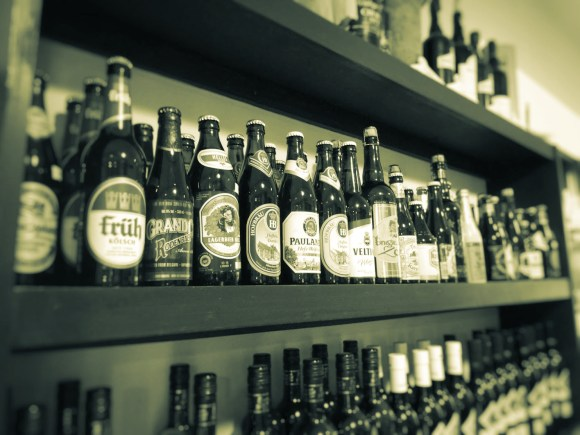 A choice of beers.
