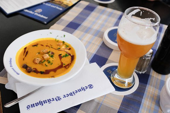 Schneider Hopfenweisse wheat beer.