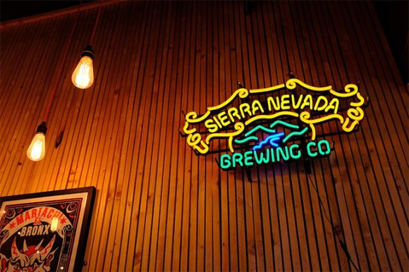 Sierra Nevade Brewing Co neon sign.