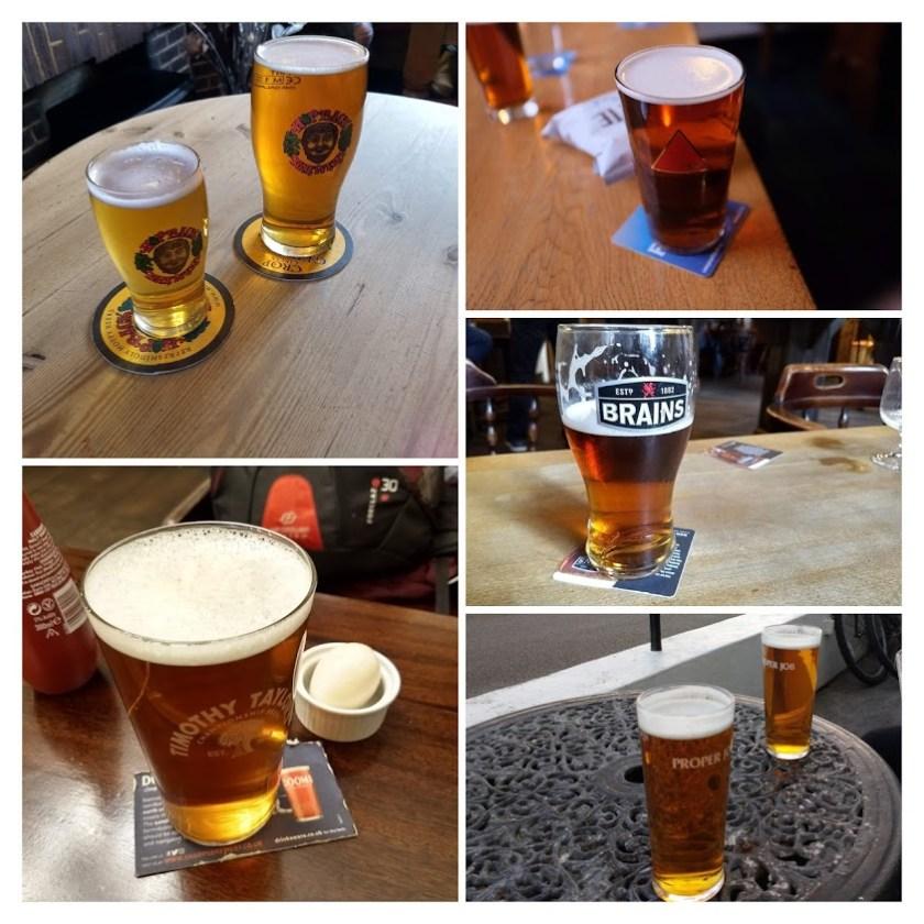 Cask ale collage.