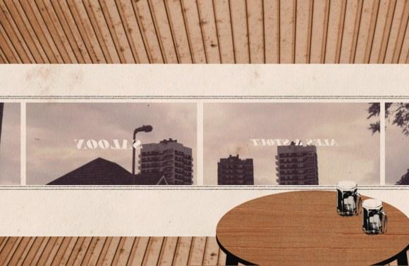 Collage: a 1960s pub.