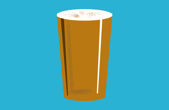 Illustration: a flat pint.