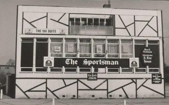 The Sportsman, a strange-looking modern pub.