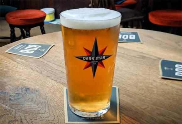 A perfect pint of Dark Star Hophead.