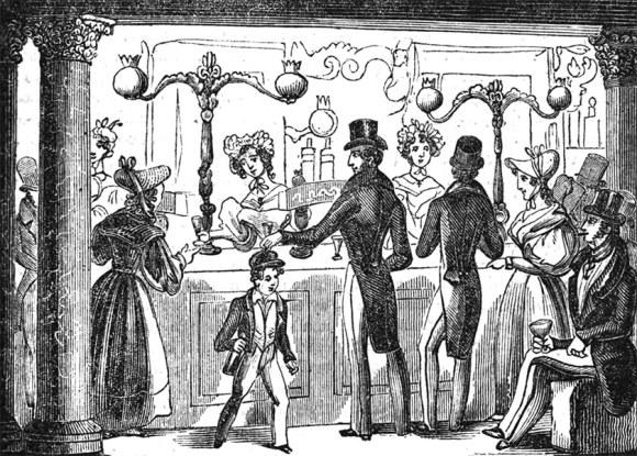 Interior of a gin palace.