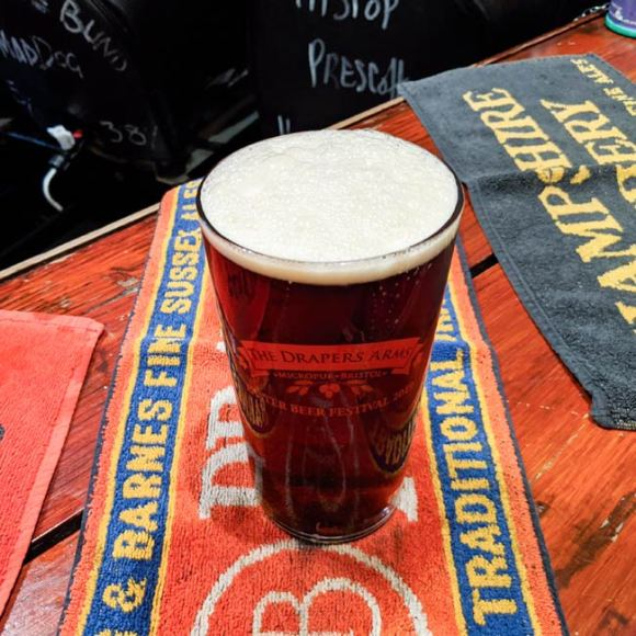 Stroud Fall in a pint glass at the Drapers.