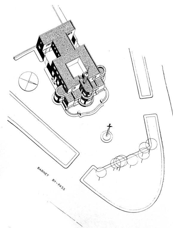 3D plan of the pub.