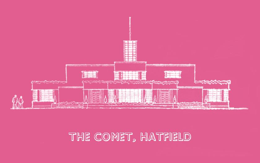 The Comet, Hatfield, 1936: streamline total design